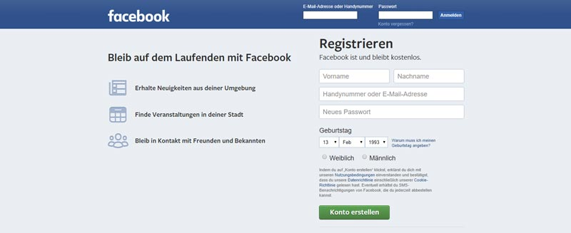 Facebook Accounts Gehackt